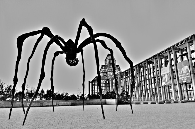 "photo of the sculpture entitled ""Maman"""