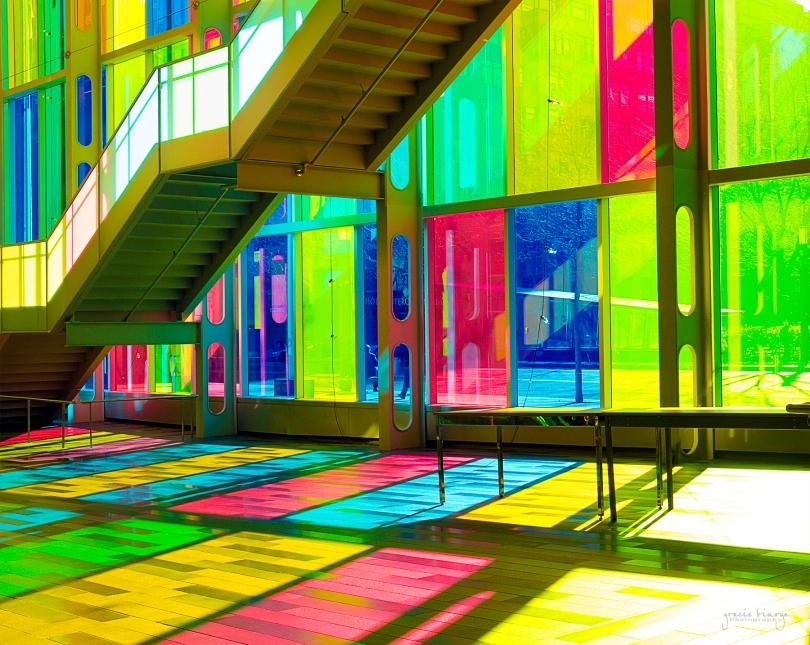 Colored Facade at Palais des Congres de Montreal