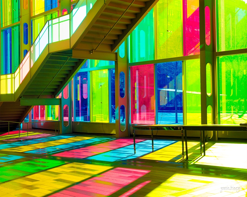 Colored Facade at Palais des Congres de Montreal