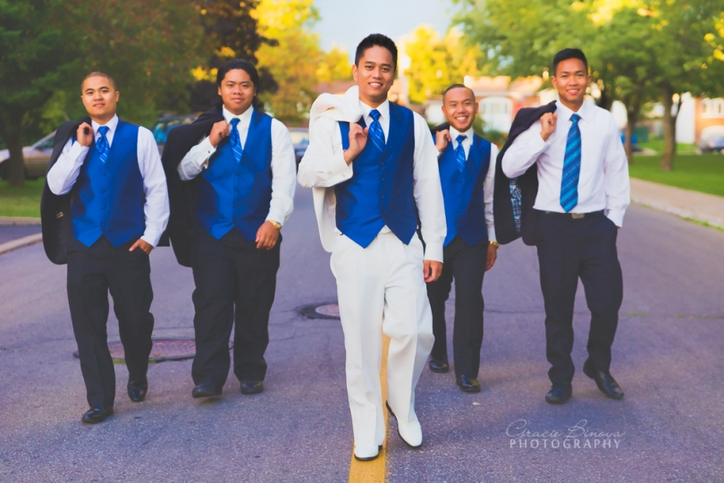 Groom and his men