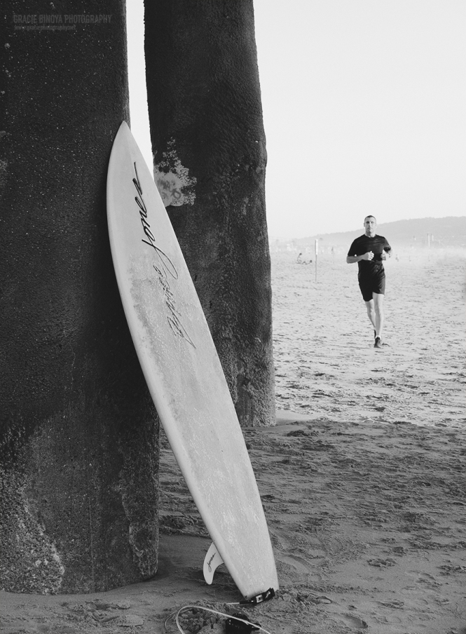 board on beach