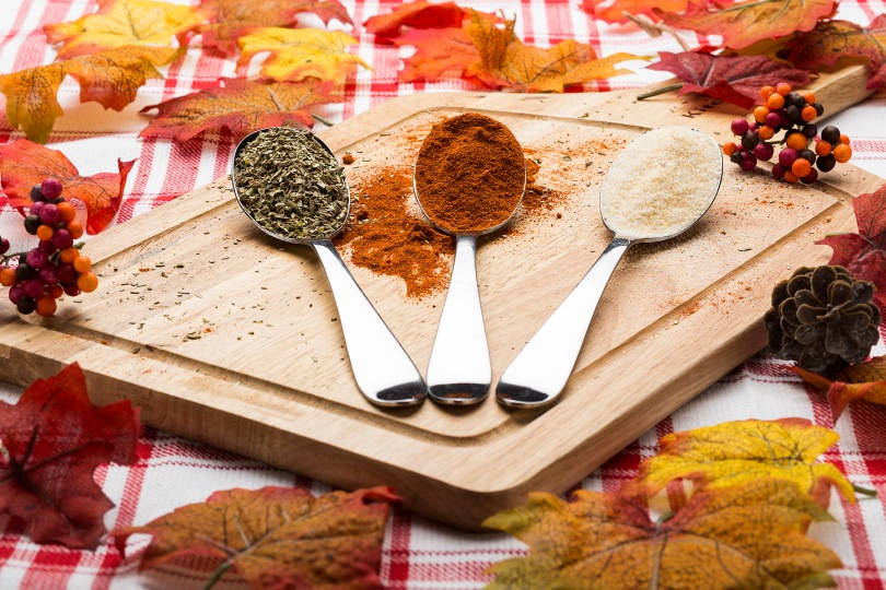 spoons full of spices